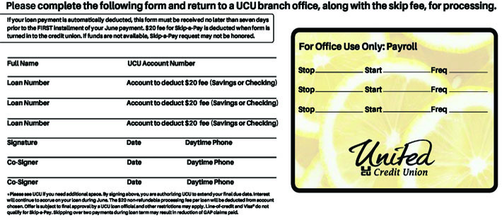 Skip-A- Pay - United Credit Union
