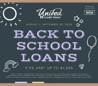 Back to School Loan Promotion!
